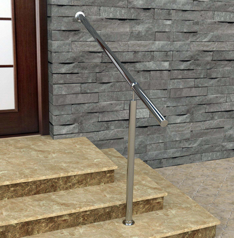 Barandilla de acero inoxidable de Bayram® para interior y exterior, juego completo: Amazon.es: Bricolaje y herramientas