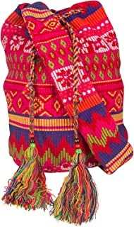 Tribe Azure Oversize Pink Hobo Shoulder Bag Crossbody Beach Shopping Market Casual Hippie Sling Messenger