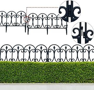 Stronrive 5pcs Plástico Valla para Jardín Efecto de Paisaje, Flexible Cercado para Césped O Parterres, para Separa Césped ...