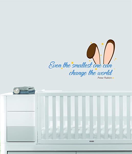 Even The Smallest One Can Change The World Peter Rabbit Nursery Wall Decal For Baby Room Decorations Mural Wall Decal Sticker For Home Children S Bedroom 1253 Wide 22 X 6 Height