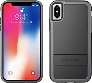 iPhone X Case | Pelican Protector iPhone X Case (Black/Light Grey)