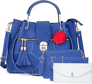 Fiesto Fashion Women's PU Hand Bag (Red, Blue)