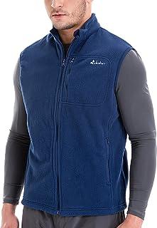 Clothin Men's Cozy Fleece Outdoor Vest Travel Warm Rec Polar Vest- Wind Resistant - Soft and Light Weight with Full Zip Pockets @ Regular Fit