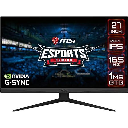 """MSI Optix G273QF Monitor Gaming 27"""", Display 16:9 (WQHD) 2560x1440, Frequenza 165Hz, Tempo di risposta 1ms, Pannello Rapid IPS, G-SYNC Compatibile, VESA 100x100mm"""