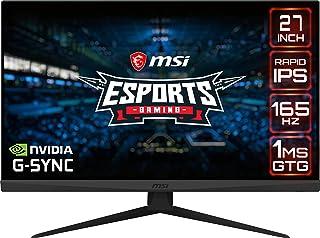 MSI Optix G273QF Gaming Monitor 27 Inch, 2560 x 1440 WQHD, Rapid IPS, 165 Hz, 1 ms GTG, Anti-Glare, 1 x DisplayPort, 2 x H...