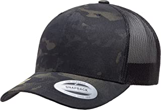 Yupoong Retro Trucker Snapback Cap | Mesh Back, Adjustable Ballcap w/Hat Liner