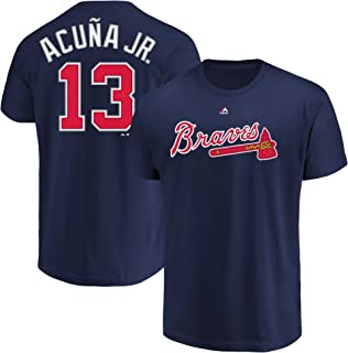Ronald Acuna Jr Atlanta Braves #13 Youth Player Name & Number T-Shirt Navy