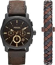 Fossil Mens Machine Watch and Bracelet Box Set - FS5251SET