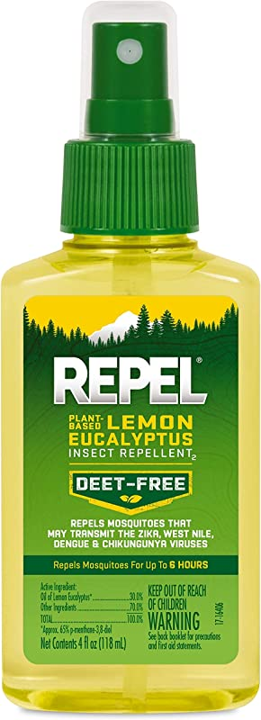 REPEL Plant Based Lemon Eucalyptus Insect Repellent Pump Spray 4 Ounce