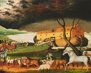 Wall Decor Noah's Ark by Edward Hicks Religious Kids Room Art Print Poster (16x20)