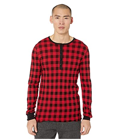 2(X)IST Essentials L/S Henley (Buffalo Check) Men
