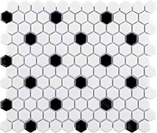 SomerTile FXLMHWBD Retro Hexagon Porcelain Mosaic Floor and Wall Tile, 10.25