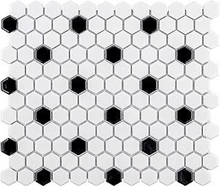 Best black white hexagon tile Reviews