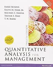 Quantitative Analysis for Management, 12/e