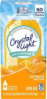 Crystal Light Citrus Energy Drink Mix with Caffeine (10 On-the-Go Packets)