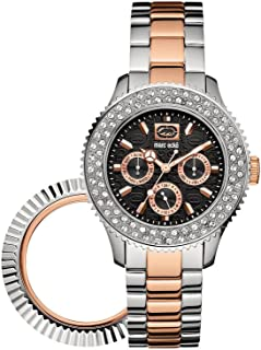 Marc Ecko Womens The Masterpiece Multifunction w/ Interchangeable Bezels Watch E17593M1