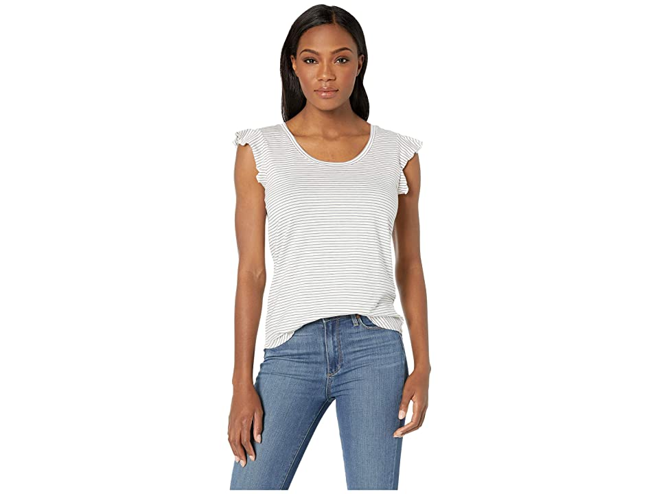 Toad&Co Rufflita Tee (Egret Mini Stripe) Women