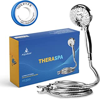 AquaBliss TheraSpa Hand Shower – 6 Mode Massage Shower Head with Hose High Pressure to..