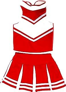 Big Girls' Women Cheerleader Costume Uniform Cheerleading Adult Dress Outfit