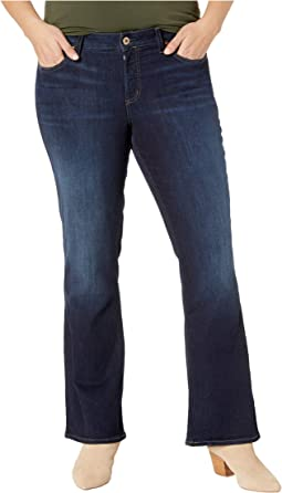 Plus Size Suki Mid-Rise Curvy Fit Slim Boot Jeans in Indigo