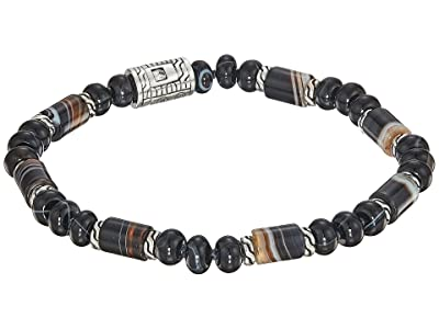 John Hardy Classic Chain Bead Bracelet with Banded Agate (Silver) Bracelet