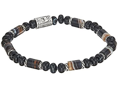 John Hardy Classic Chain Bead Bracelet with Banded Agate