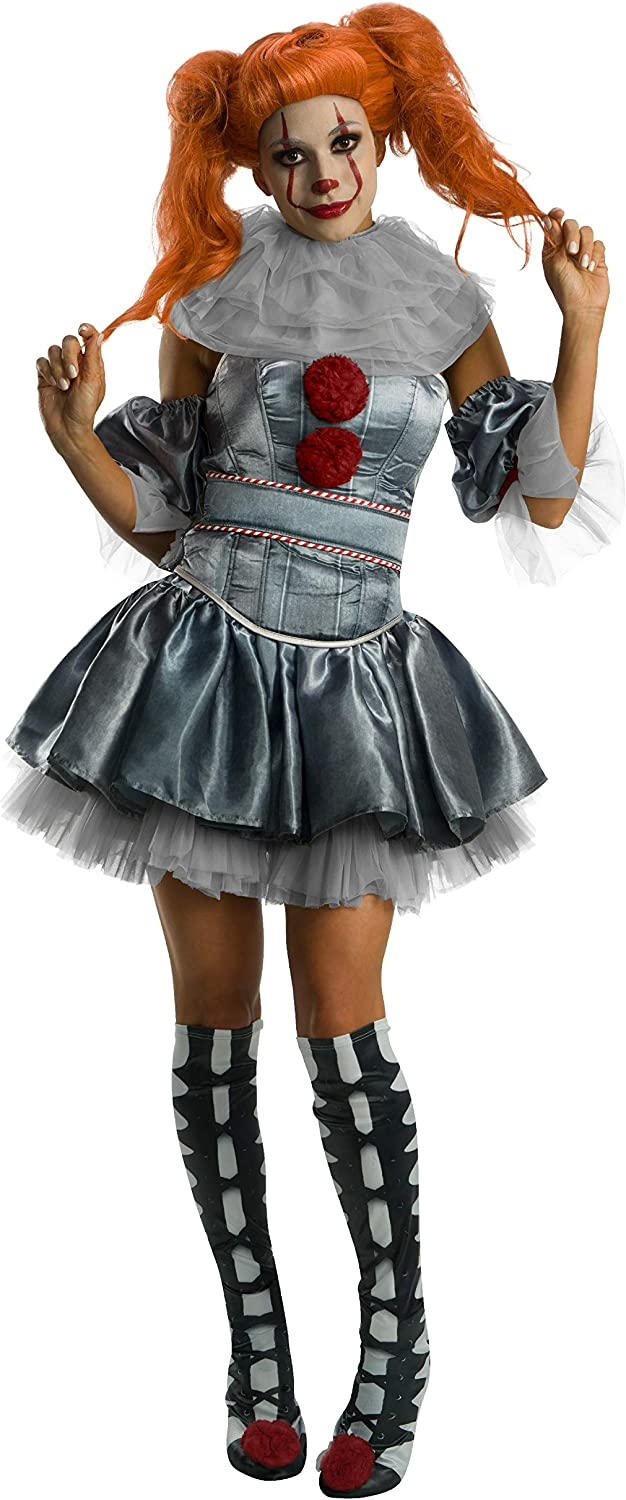 Rubie's IT National uniform free shipping Movie Women's Costume High material Pennywise Deluxe
