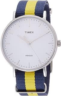 Timex Weekender Fairfield Blue /Yellow Nylon Strap Watch TW2P90900