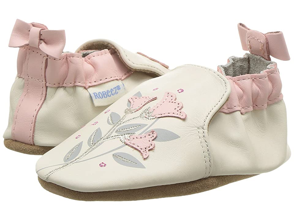 Robeez Rosealean Soft Sole (Infant/Toddler) (Cream) Girl