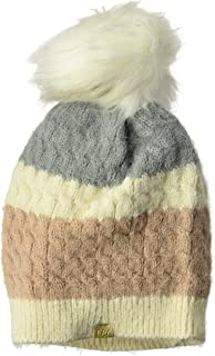 D&Y Women's David & Young's Color Block Feather Yarn Beanie