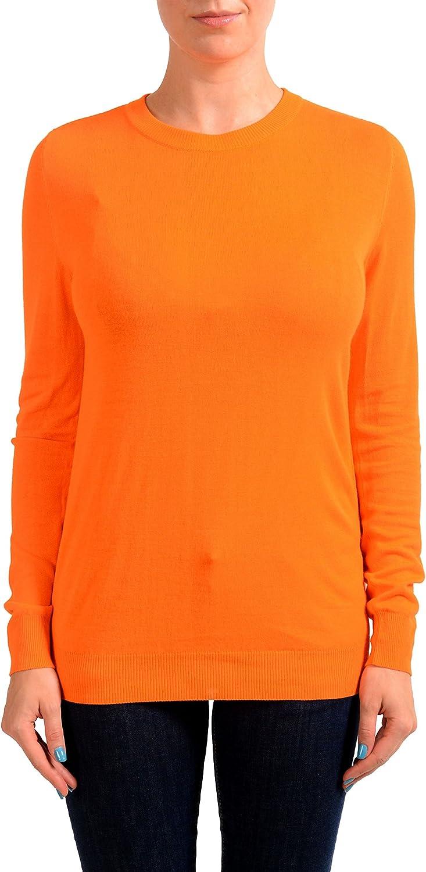 Maison Margiela Orange Knitted Women's Pullover Crewneck Sweater US M IT 42