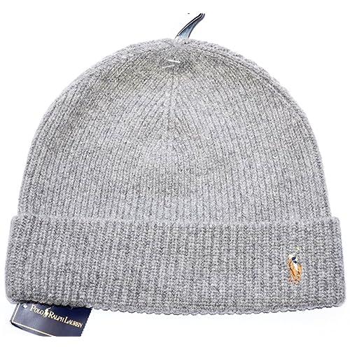 1002b0f13fc Polo Ralph Lauren Men s Beanie Hat Winter Cap Gray