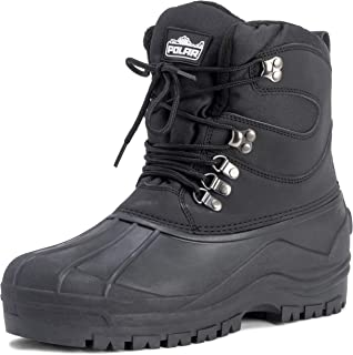Mens Snow Waterproof Duck Hiking Bean Hiker Walking Short Ankle Boots