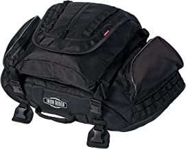 Dowco Iron Rider 04890 Water Resistant Reflective Rumble Motorcycle Tail Bag: Black, 38 Liter Capacity