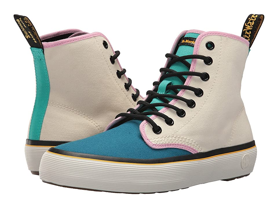Dr. Martens Monet (Port Blue/Bone/Teal/Mallow Pink 10 oz Canvas/Black T Lamper) Women