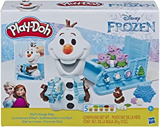 DISNEY Frozen Play-Doh - Olaf's Sleigh Ride Play Set inc 5 Tubs of Dough - Kids Creative Toys - Ages 3+