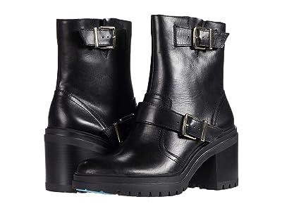 Kenneth Cole New York Rhode Heel Buckle (Black Leather) Women