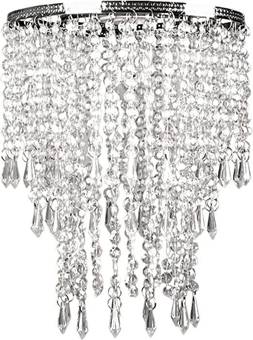 Tadpoles Faux Crystal Triple Layer Dangling Shade Chandelier Style Amazon Co Uk Kitchen Home