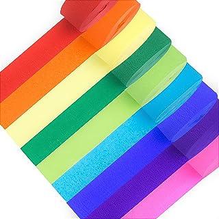 wangjiangda Papier Cr/êpe 6 Couleurs Rubans en Papier Cr/épon Streamers D/écorations de F/ête Suspendues pour Divers F/êtes danniversaire Festival de Mariage