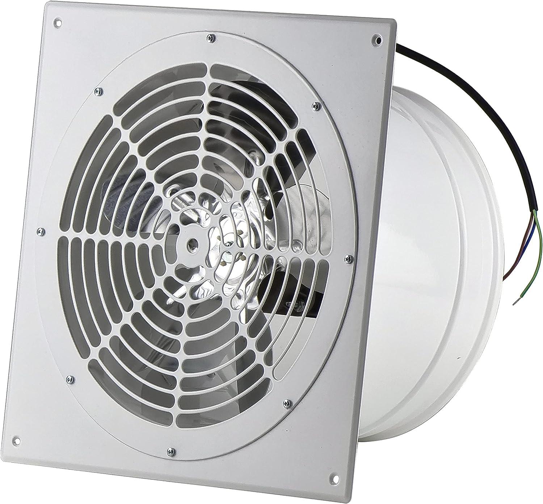 Ventilador de pared de 250 mm de diámetro, color blanco