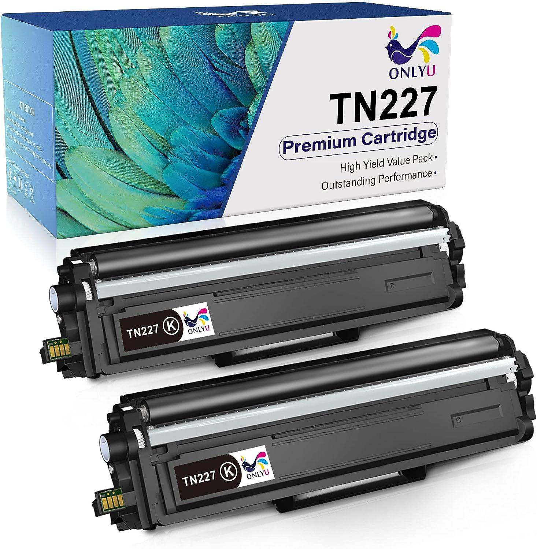 ONLYU Compatible Toner-Cartridge Replacement for Brother TN227 TN-227 TN-227BK TN223 TN223BK for HL-L3210CW HL-L3290CDW HL-L3230CDW HL-L3270CD MFC-L3750CDW MFC-L3710CW MFC-L3770CDW Printer (Black)