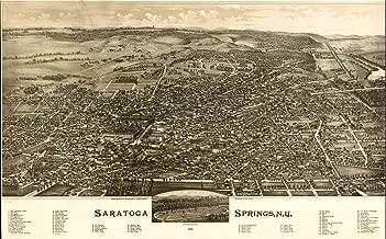VintPrint Map Poster - Saratoga Springs N.Y. 1888. - 24