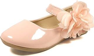 Nova Utopia - Zapatillas Planas de Ballet para niña con diseño de Flor