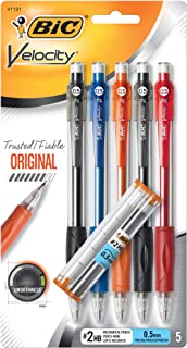BIC Velocity Original Mechanical Pencil, Fine Point (0.5mm), 5-Count