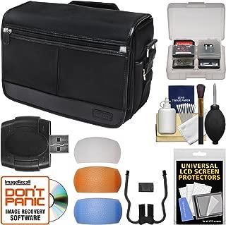 Nikon DSLR Camera/Tablet Messenger Shoulder Bag with Pop-up Filter Set + Kit for D810, D750, D610, D7200, D7100, D5500, D5300, D3300, D3200