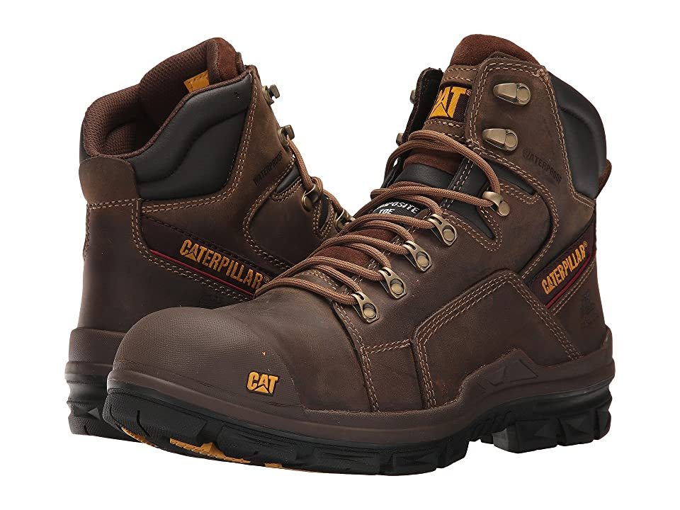 Caterpillar Struts Waterproof Composite Toe (Dark Brown) Men