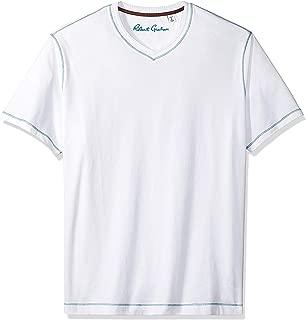 Robert Graham Men's Maxfield Short Sleeve Vneck Tshirt