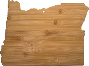 Totally Bamboo Oregon State Shaped Bamboo Serving & Cutting Board