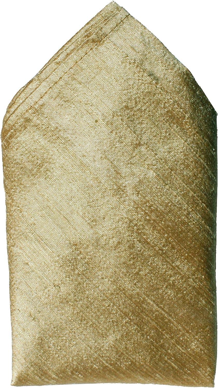 Gold Dupioni Silk Handkerchief - Full-Sized 16