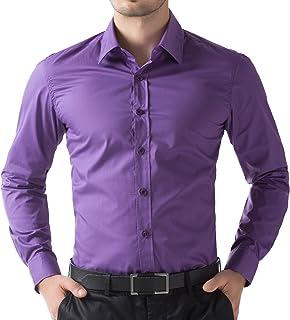 ce4d4b7770ec9 Paul Jones Men s Solid Dress Shirt Long Sleeve Button Casual Shirt
